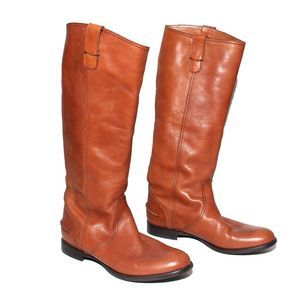 Madewell Archive 1937 Cognac Leather riding Boots